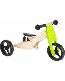Small Foot Tricycle Trike 2-in-1 loopfiets 10 Inch Junior Groen