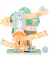Small Foot Wielbaan Marble Run Hout Junior 35 Cm Blank/groen 11383a