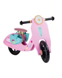 Small Foot houten loopfiets roze scooter 10109